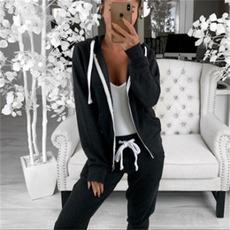 2021 womens zip up hoodie Womens zip Up Activewear con cappuccio Felpa con cappuccio Giacca sportiva Cappotto Cappotto Capispalla Top Solido