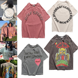 2021 style kanye west KANYE KANYE New West Dimal Sunday Tour Memorial Oversize Sourte surdimensionné T-shirt à manches courtes, T-shirt de style de rue occasionnel