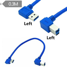 linker winkel usb b kabel Rabatt 1ft USB 3.0 A Stecker 90 Grad links Winkel zu USB 3.0 B männlichen linken Winkel Cable