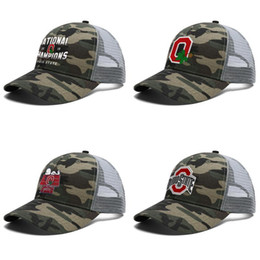 2021 ohio staat sport Mens-Frauen-Staat Ohio-Rosskastanien 2018 Landesmeister Einstellbare Trucker Cap Dad Cool Sports Fashion Baseball-Mütze Sport 388 Fußball
