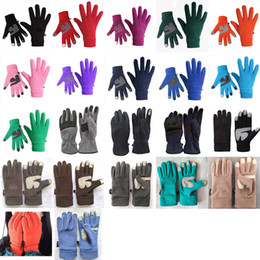 Uomini guanti touch screen online-NF design Guanti invernali The North morbido e caldo pile Touch Screen Gloves Uomini Donne faccia all'aria aperta sci Guanti Telefingers Guanti XD22772