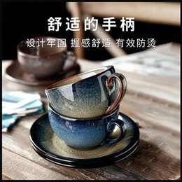 Black Magnolia Coffee Cup and saucers European Bone China Coffee Cup Set Hand painted gold Teacup set 220ml creative gift