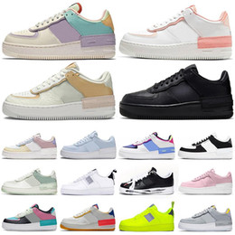Grüne turnschuhe online-nike air force 1 af1 shadow forces one shoes airforce shadow type N354 Plateauschuhe Shadow High Low Top Skate Herren Damen Turnschuhe Casual Sports Sneakers