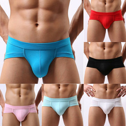 Roupa interior shorts sem costura on-line-New Mens Sexy Briefs Underwear Seamless L-3XL respirável Breves Cueca Curto Masculino Calcinhas Mens Breves Plus Size Thongs