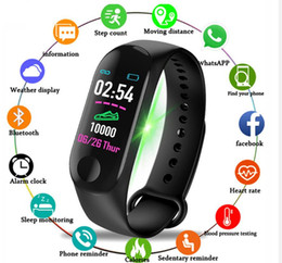 2021 умные часы m4  M3PLUS Smart Bractele M4 Plus Health Blood Beart Rate Monitor M5 Smart Watch Fitness Tracker Часы M3 для Android iOS
