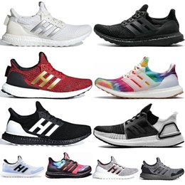 2021 chaussures design ultra boost  Livraison rapide 3 Ultra Boost 4 Chaussures de course Ultraboost Primeknit Orca Woodstock 5.0 Triple Noir Baskets homme Designer Baskets
