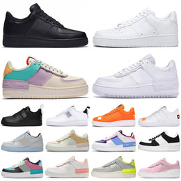 Sportplattform online-af1 2020 Force Forces 1 Dunk Low One Shadow Männer Frauen Schuhe Dienstprogramm Triple Pale Elfenbein Outdoor Herren Damen Turnschuhe Sport Turnschuhe