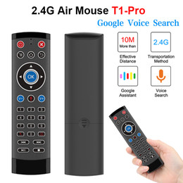 Telecomando per tv sony online-Voice Control Air Mouse per Android TV Box Projector Google Player 2.4G Telecomando wireless tastiera wireless per LG Sony Smart TV