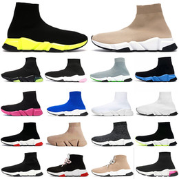 Calzini dell'annata per le donne online-sock shoes  Acquista scarpe sportive calzino di design speed luxury womens mens scarpe casual tripler étoile vintage sneakers calze stivali platform trainer