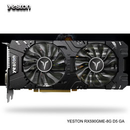 Hdmi pci e card онлайн-Yeston Radeon RX 590GME GPU 8GB GDDR5 256bit Gaming Настольный компьютер поддержка PC Video Graphics Cards DP / DVI-D / HDMI PCI-E X16 3,0