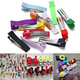 25 Mixed Color Plastic Prong Alligator Hair Clips 52mm with Teeth Bows