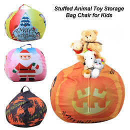 Animais de arame on-line-Natal Innovative Plush Toy Storage Bag Halloween roupa Multi-purpose Organizador Stuffed Animal Toy Chair For Kids