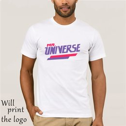2020 camiseta universitária Mr. Universe T-shirt desconto camiseta universitária