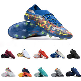 Sapatos tangos on-line-Tango Nemeziz Messi 19,1 The Journey Baixa FG chuteiras modificador Uniforia Volt Encryption Pack Equipe Royal Blue Grey Laranja Soccer Football Shoe