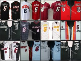 Camisas de basquete preto on-line-Miami