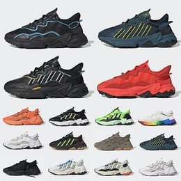T chaussures homme en Ligne-adidas King Push Ozweego Men Women running Shoes Era Pack Reflective Xeno Black Bright Cyan Pusha T Taped Seams leather trainers Sports Sneakers