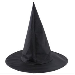 harry potter requisiten Rabatt Steeple Magic Hat Promotion kühle Erwachsener Frauen Halloween schwarze Hexenhut Oxford-Kostüm-Party Props Harry Potters Cap Großhandel 4P