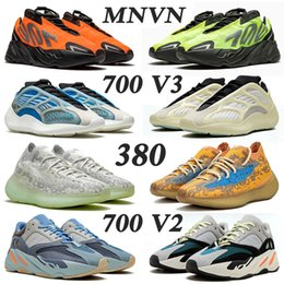 sapatos sapatos mulheres Desconto Sapatos 2020 New Kanye West Yeezy Boost 700 v3 yezzy 700 v2 MNVN Running Shoes Men Women Fashion Azael Alvah Alien Mist Vanta Trainers Sneakers