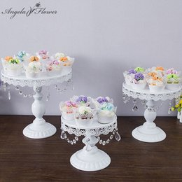 Flor artificial bola de ouro on-line-Gold white silver metal cake stand crystal for artificial flower ball bouquet wedding fruit rack plate tray candlestick shelf