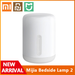 Smart lights apple on-line-Xiaomi youpin lâmpada de cabeceira 2 mesa inteligente LED luz noite colorido 400 lumens bluetooth wifi toque controle para maçã homekit siri