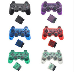joystick ps  Rabatt Wireless Gamepad für PS2 PS-Controller für 1 2 Konsole Joystick Double Vibration Joypad Wireless Control