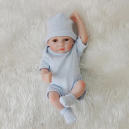Realistische babypuppe silikon online-Bebe Reborn Full Body Soft Silicone Babies 28CM Imitation Realistic Reborn Baby Boy Lol Dolls For Child Gifts Boys Toys