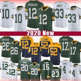 Favre-trikots online-12 Aaron Rodgers 33 Jones Football Jersey 10 Liebe 17 Davante Adams 26 Darnell Savage JR 20 Kevin King Bart Starr Clay Matthews Brett Favre
