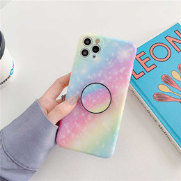 Himmel iphone online-Rainbow Gradient Sternenry IMD Sky Phone Case für iPhone 11 PRO MAX 7 8 PLUS XS MAX XR XS SE 2020 Marmor Cover Coque