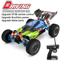 2021 rennsport-hochgeschwindigkeitsfahrzeuge WLToys 144001 RC Auto RTR High Speed ​​Drift Racing Car 4WD Upgrade Metallteile 120A ESC 3300KV Brushless Motor GT3B Fernbedienung 201126