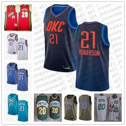 Oklahoma City Thunder #21 Andre RobersonEarned Edition Swingman Jersey