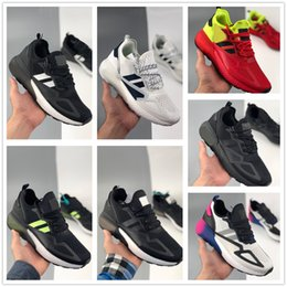 chaussures blanches hommes populaires Promotion ZX 2K Bottes Sneakers Blanc Chaussures WOMENS Courir technique Chaussures 2020 Chaussures de sport Formation meilleur sport pour les femmes yakuda hommes populaires