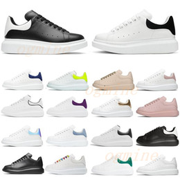 Plataforma branca sapatos homem on-line-alexander mcqueens sneakers men women baskets flats mcqueen mqueen espadrille espadrilles oversized sneakers platform shoes