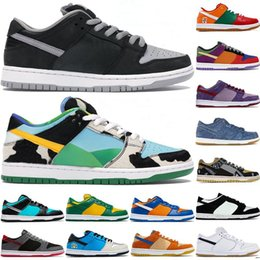 спортивная обувь бразилия Скидка 2020 Nike SB Dunk Low Chicago shoes Chunky Dunky Low Dunk Brazil Panda Pigeon scarpe da ginnastica sportive da uomo outdoor trainer Low Dunk shoes
