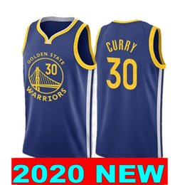 Curry shirt online-2020 neue Stephen Curry 30 Klay Thompson 11 Basketball Shirt Qualität