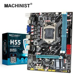 Soquete expresso pci ? venda-MACHINIST H55-mãe soquete LGA 1156 Supports DDR3 16G e I3 // CPU PCI-Express USB 2.0 Portas Mainboard Main Board