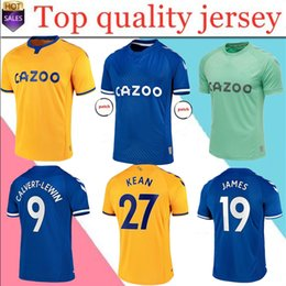 2021 jersey everton Männer + Kinder Kit 20/21 Everton Soccer Jerseys James Richarlison Kean Sigurdsson Fußball Hemd 2020 2021 Walcott Everton nach Hause Uniformen