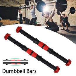 Asta sport online-2 PZ 40 cm Universal Dumbbell Rod Maniglia Bilanciere Maniglia Dumbbell Bar For Sport Workout Training Gym Fitness Attrezzature per il fitness