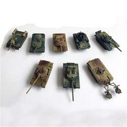 Modelli di guerra mondiale online-1: 144 8pcs di arrivo / lot 4D War II plastica nuova assemblea giocattolo Sand Table Model World of Tanks Collection