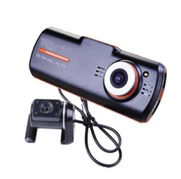 Fotocamera frontale del dvr online-FHD1080P Dual Lens Car Camera Front and Rear View Lens Car DVR Night Vision Motion Detection 2 Driving Recorder1