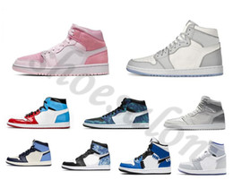 Union schuhe online-2020 Arrivals OG High Low Mens Womens  J Balvin x  1 1s Basketball  1 Shoes  Rookie of aj1 union the Year Shattered Crimson Tint Sneakers pink Trainers