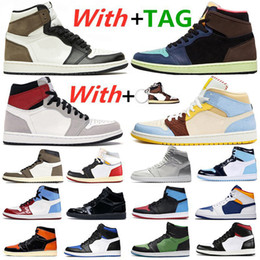 2021 rage nouvelles chaussures 2021 New 1 1s Dark Mocha ZOOM RAGE GREEN Basketball Shoes Tokyo Bio Hack Metallic Silver Tie Dye Women Mens Trainers Sports Sneakers rage nouvelles chaussures pas cher