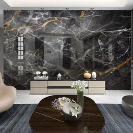 2021 papéis de parede preto branco Photo Wallpaper moderna preto e branco simples de mármore Mural Papers Sala TV Sofa Abstract Wall Art Pintura Home Decor