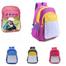 Impression de livre en Ligne-Sublimation Blanc Blanc Sac à dos bricolage Thermique Thermal Therm Impression Chaleur Rusksack Enfants Garçon Girl Girls Sacs Grand Duffle Book Totes E121409