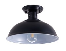illuminazione decorativa decorativa interna Sconti Lampada da soffitto vintage nero E26 Lampada a sospensione a LED LED industriale per interni Cafe Restaurant Bar Corridoio Decorazione del corridoio Accensione USA disponibile-L