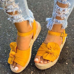 Borboleta romana on-line-Mulheres Sandálias Gladiador Plataforma Womens Shoes Sapatos de Praia Ladies Senhoras Wedge Roman Woman Sandals Butterfly-Knot Sandalias Mujer