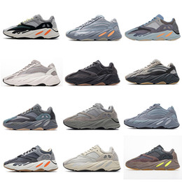 Sapatos kanye on-line-Yeezy 700 V2 Running shoes Kanye West Onda Running Shoes Inércia Reflective Tephra Cinza contínuo Utility Preto Homens Mulheres Esporte Sn instrutor Eur 36-45