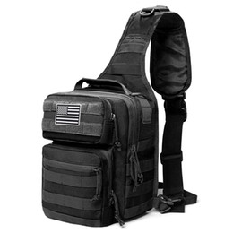 2021 zaini una cinghia di spalla 600D Military Tactical Should Shoulder Zaino Army Molle Assault Sling Bag Piccolo EDC One Strap Daypack Tactical Bags Y200920