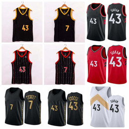 2021 City Edition Raptors 7#Lowry 43#Siakam Embroidery Basketball Top,Embroidered Mesh Basketball Jersey Top