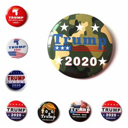Nuovi badge pin online-New Trump Brooch Pins rendono America Grande di nuovo Donald Trump per il presidente USA Glass Dome Dome Pin Pin Badge Badge HWE395