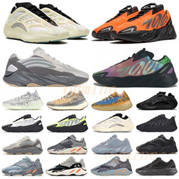 Zapatos de atletismo negro online-2020 700 yeezy yeezys yezzy yeezys yzy v1 v2 wave runner mauve kanye west wave Static shoes men women s Black sports designer athletics sneakers 36-46